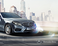 Mercedes Benz E-class City Skyline
