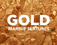 Gold Modern Marble Ink Textures