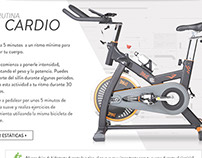 Landing page Fitness