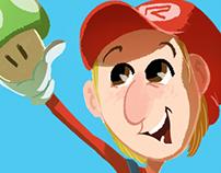 Ilustra - Convite Super Mario