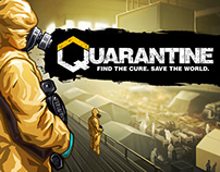 Quarantine - Game Trailer Art for Epidemy Simulator