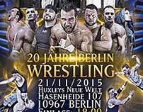 GWF : 20 Jahre berlin wrestling anniversary Artworks.