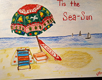 sea shore christmas card