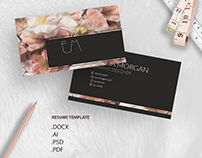Oil pant flower business card template