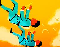 Illustration I Falling man