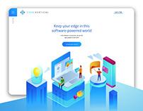 Code Vertical Website Design