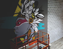Spiritual Athletica Mural Art