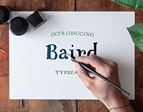 Baird Sketch Serif Typeface