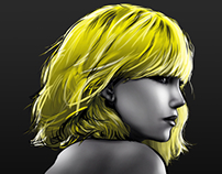 """Atomic Blonde"" Procreate app drawing practice"