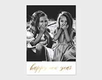 New Year Minimalist Photo Card Template