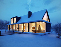 Architectural Rendering For Exterior Design: Winter For