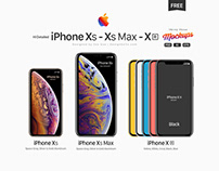Free Apple iPhone Xs, Xs Max, Xr Mockup PSD, Ai & EPS