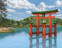 Itsukushima Shrine, The Torii. Japan
