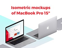 "The Isometric MacBook Pro 15"" mockups"