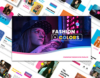 Color Fashion Free PowerPoint Template