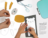 Threadbear - a children's recycled sewing kit