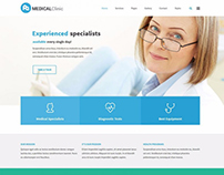 Services WordPress theme - medical clinic example