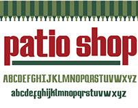 typeface | Patio Shop