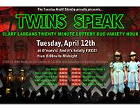 The Tuesday Night Shindig presents Twins Speak