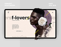 F-Lovers Concept Portfolio Website