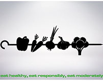 eat healthy, eat responsibly, eat moderately