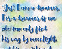"Wilde ""Dreamer"" Quote"
