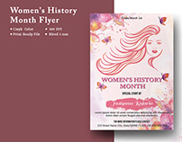 Women's History Month Party Flyer Template