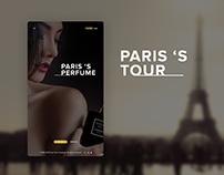 Paris Tour__ website - Mobile