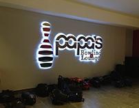 Papa´s Bowling & Lounge Signage Project
