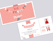 Maria's Christening - Invitations