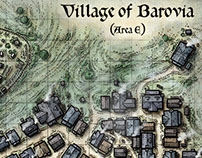 Village of Barovia Map