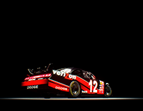 3D Render of Nascar Dodge Challenger