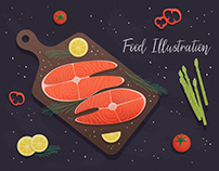 Food Illustration. Vector