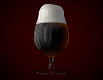 Beer glass model and render