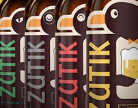 BEER LABEL & LOGO DESIGN (ZUTIK BEER)