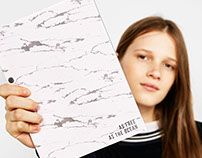 Marble Notebook for Bershka Stationary Collection