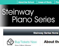 Steinway Piano Series brochure and webpage design