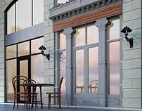 new classic Italian restaurant exterior