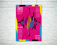 Jazz poster and packaging for disc
