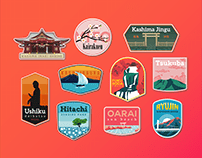 Ibaraki Travel Patches