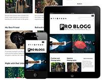 Pro blogg : Free Simple Blog WordPress Theme