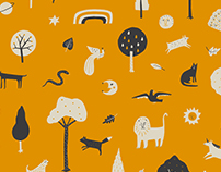 'Wild Things' wallpaper pattern