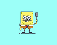 SpongeBob Icons & Pattern