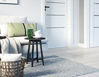 White doors interior