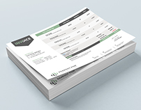 Horizontal Invoice Template