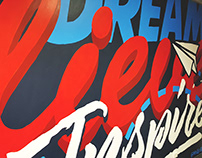 Youth Transitions Typography Mural