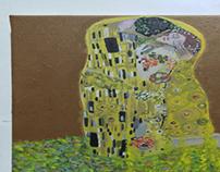 'Kiss'(Gustav Klimt), by me.