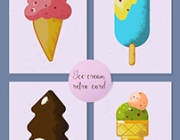 Ice-cream retro card