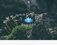 Project of responsive web page for a florist agency