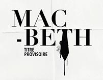 Macbeth, Titre provisoire